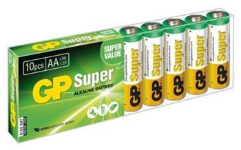 Baterie GP SuperAlkaline AA R6A, 1.5V, tužka, 10pack - GP 15A