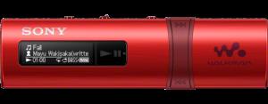 Sony NWZ-B183 – přehrávač WALKMAN s portem USB, 4GB, red - NWZB183R.CEW