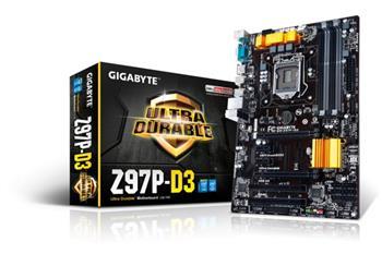 GB Z97P-D3, Intel Z97, 1150, 4×DDR3, VGA, ATX - Z97P-D3