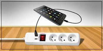 Kabel 250V/10A prodlužovací přívod s 2x USB, 3m, 3 zásuvky, s vypínačem - PP12USB