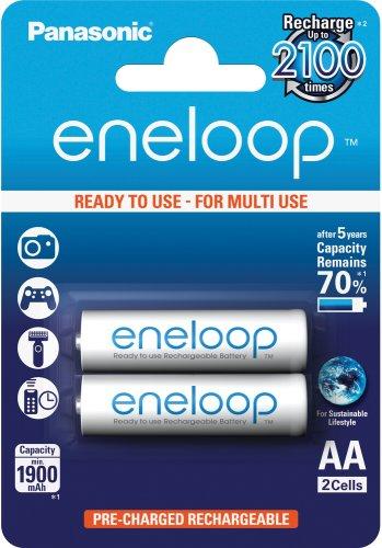 Panasonic Eneloop AA, akumulátory blistr 2 ks, 2100 cyklů - BK-3MCCE/2BE