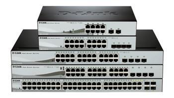 D-Link DGS-1210-24P, 24-port 10/100/1000 Gigabit PoE (max.85W) - DGS-1210-24P