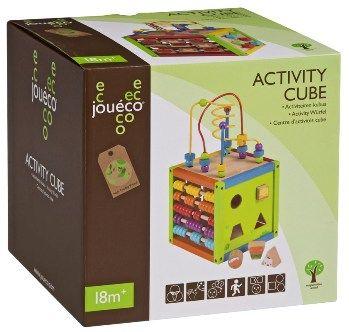 Johntoy - Dřevěné hrací centrum - kostka - 80012