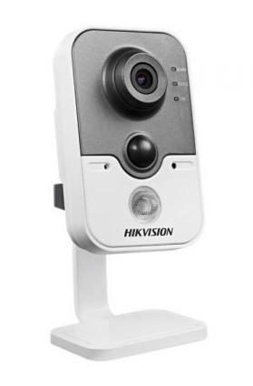 Hikvision IP cube kamera DS-2CD2412F-IW, 1,3MP, WiFi, 10m IR, PIR, obj. 2,8mm, SD slot, DC - DS-2CD2412F-IW