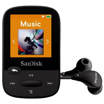 SanDisk MP3 Sansa Clip Sports 4 GB černý - SDMX24-004G-G46K