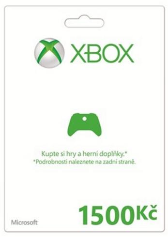 Microsoft XBOX LIVE Předplacená karta LIVE 1500 Kč - K4W-00123