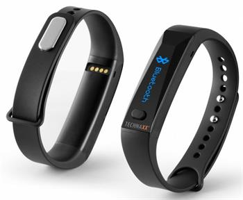 Fitness náramek Technaxx ACTIVE, OLED, Bluetooth 4.0, Android/iOS, černý - 4446
