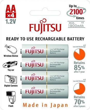Fujitsu White AA, akumulátory blistr 4 ks, 2100 cyklů HR-3UTCEX-4B - FU-3UTCEX-4B