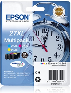 EPSON cartridge T2715 (cyan / magenta / yellow) multipack XL - C13T27154010