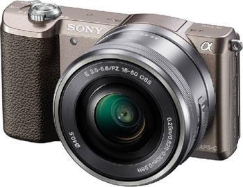 Sony Alpha 5100, 16-50mm, hnědý - ILCE5100LT.CEC