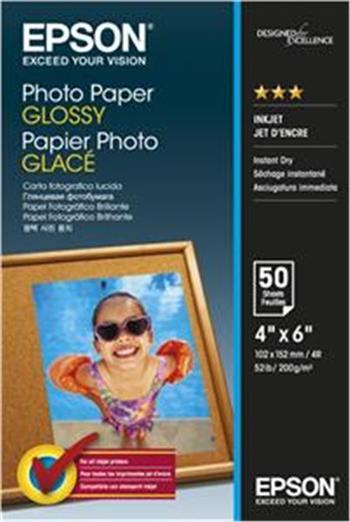 EPSON Photo Paper Glossy 10x15cm 50 listů - C13S042547