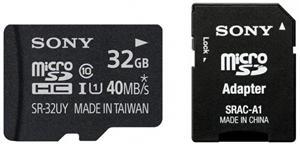 SONY microSD karta 32GB, class10, (40MB/s) + adapter - SR32UYA