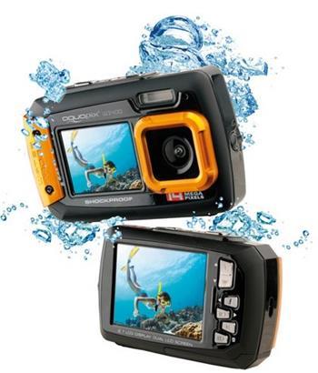 """EasyPix W1400 Active vodotěsný 3m, CMOS 14 Mpx, 2,7"""" LCD, černo-oranžový - 10050"""