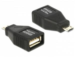 Adapter USB micro-B samec > USB 2.0-A samice OTG, celý v pouzdru - 65549