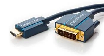 ClickTronic HQ OFC kabel HDMI male <> DVI-D male (24+1), zlacené, 10m - CLICK70345