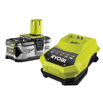 RYOBI RBC18 L40 - sada 18 V lithium iontová baterie 4,0 Ah s nabíječkou - RBC18 L40