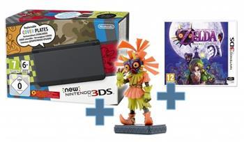 Konzole New Nintendo 3DS Black+TLOZ Majora's Mask+ Figurine - NI3H970111