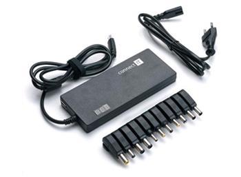 CONNECT IT Univerzální notebookový adaptér 90W + USB s LED displejem - CI-134