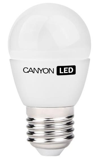 Canyon LED COB žárovka, E27, kompakt kulatá, mléčná 6W, 470 lm, teplá bílá 2700K - PE27FR6W230VW