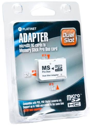 OMEGA Adapter MS PRO DUO 2x Micro SDHC DUAL SLOT - 40801