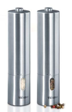 Tristar PM-4005 sada mlýnků na pepř/sůl vzhled nerez - PM-4005