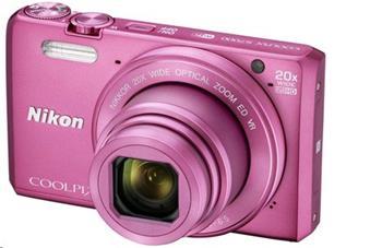 NIKON COOLPIX S7000 Pink včetně pouzdra - VNA803K002