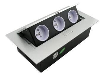 Výklopná zásuvková lišta se 3x 230V - FKVZ3