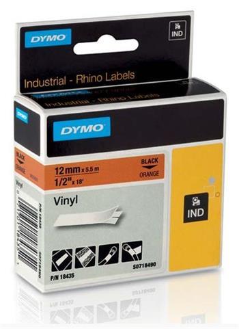 DYMO páska D1 (12mm x 5,5m) černá na oranžové S0718490 - 18435