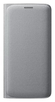 Samsung flipové pouzdro s kapsou EF-WG925B pro Samsung Galaxy S6 Edge (SM-G925F), stříbrná - EF-WG925BSEGWW