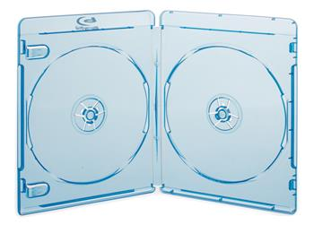 Blu-Ray DVD box for 2 disc super clear blue, with booklet - 27124