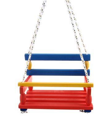 Houpačka dřevěná barevná - 002