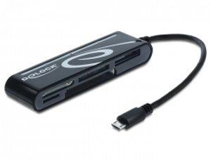 Delock Micro USB OTG čtečka karet 6 slotů - 91732