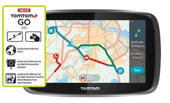 TomTom GO 510 World, LIFETIME mapy - 1FA5.002.55