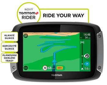 TomTom Rider 400 EU Premium Pack pro motocykly LIFETIME mapy - 1GE0.002.01