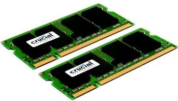 CRUCIAL 4GB=2x2GB DDR2 SO-DIMM 667MHz PC2-5300 CL5 1.80V - CT2KIT25664AC667