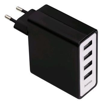 Hama síťová USB nabíječka, 4zásuvková, 5,1 A - 54182