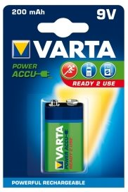 Baterie Varta 9V 200 mAh ready 2 use - 56722