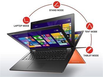 "Lenovo YOGA 2/ i5-4210U/ 4GB/ 500GB+8GB/ 13,3"" multitouch/ WIN8.1 oranž - vystavený kus - 59442731"