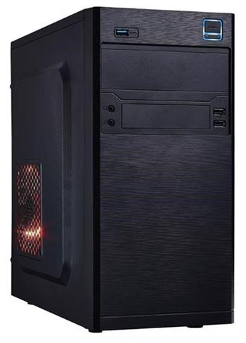 EUROCASE MC X202 black, micro tower, 2xAU, 2x USB 2.0, 1x USB 3.0 - MCX202B00