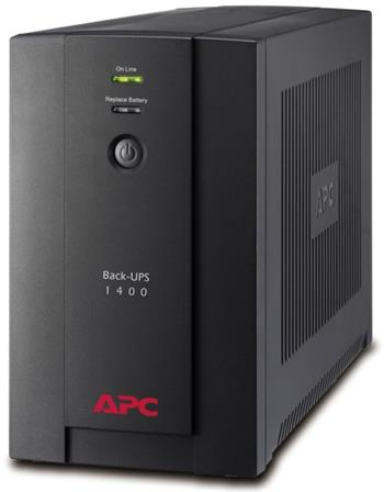 APC Back-UPS 1400VA (700W), AVR, USB, IEC zásuvky - BX1400UI
