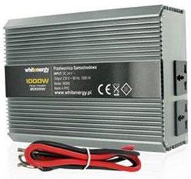 Whitenergy Měnič napětí DC/AC 24V / 230V, 1000W, 2 zásuvky - 06588
