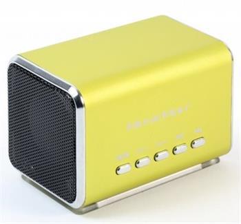 Přenosný stereo reproduktor MIDI Technaxx MusicMan, baterie 600 mAh, FM-Radio, zelený - 3555