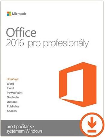 Microsoft Office Professional 2016 CZ, el.licence - 269-16805