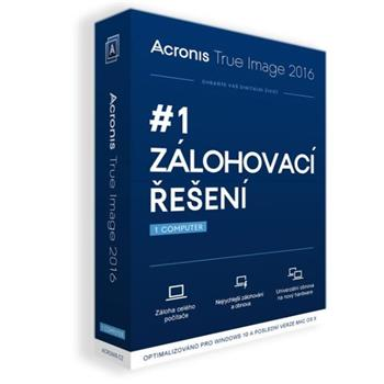 Acronis True Image 2016 BOX CZ Upgrade - TIHWUB2CZS