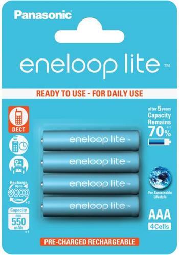 Panasonic Eneloop Lite AAA, akumulátory blistr 4 ks, 3000 cyklů - BK-4LCCE/4BE