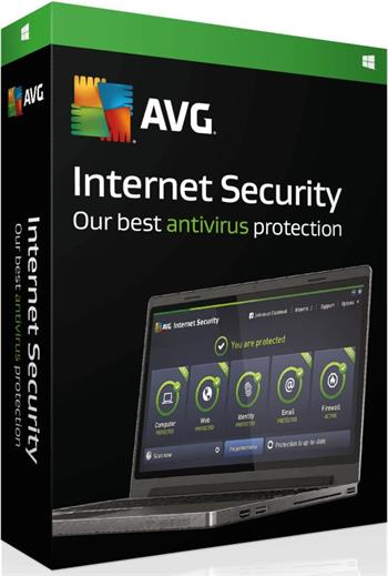 AVG Internet Security, 2 lic na 1 rok, el.licence - ISCEN12EXXS002