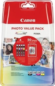 Canon ink. náplň CLI-526 C/M/Y/Bk PHOTO VALUE multipack - 4540B017