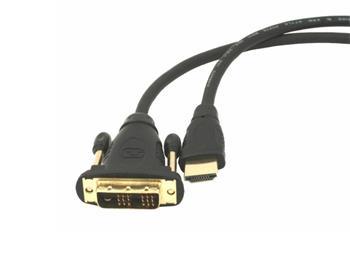 Gembird HDMI - DVI samec-samec kabel (pozlacené konektory 18+1) 1.8m - CC-HDMI-DVI-6