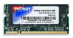 Patriot 1GB 333MHz DDR CL2.5 SODIMM - PSD1G33316S