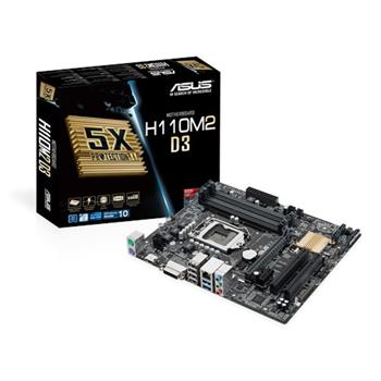 ASUS H110M2 D3 Intel H110, 1151 - 90MB0MP0-M0EAY0